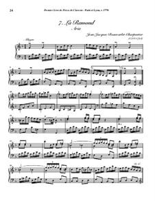 Pieces for Harpsichord, Op.1: No.7 La Remond by Jean-Jacques Beauvarlet-Charpentier