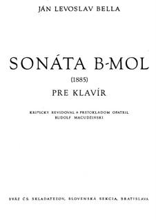 Sonata for Piano: Sonata for Piano by Ján Levoslav Bella