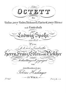 Octet in E Major, Op.32: Violin part by Louis Spohr