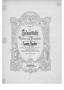 Six Salon Pieces for Violin and Piano, Op.145: Score by Louis Spohr