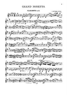 Grand Nonet, Op.31: Clarinet part by Louis Spohr