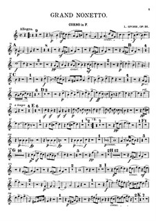 Grand Nonet, Op.31: French horn part by Louis Spohr