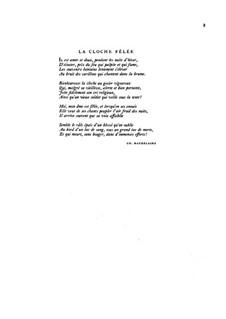 La cloche fêlée (The Broken Bell): La cloche fêlée (The Broken Bell) by Claude Debussy