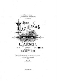 Two Mazurkas for Piano, Op.8: Mazurka No.1 by Eugen Fedorovich Alenev
