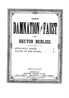 The Damnation of Faust, H.111 Op.24: Hungarian March, for piano by Hector Berlioz