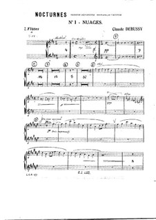Three Nocturnes, L.91: Parts by Claude Debussy
