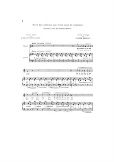 Noël des enfants qui n'ont plus de maison (Christmas Carol for Homeless Children), L.139: Piano-vocal score by Claude Debussy