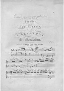 I briganti: Cavatina. Arrangement for voice and piano by Saverio Mercadante