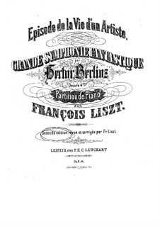 Symphonie fantastique (Fantastic Symphony), H.48 Op.14: Movement I, for piano by Hector Berlioz