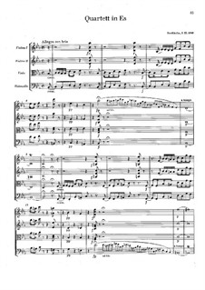 String Quartet No.3 in E Flat Major: Full score by Franz Berwald