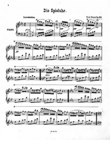 Die Spieluhr, Op.180: For piano by Ferdinand Beyer
