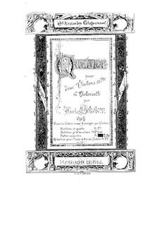 String Quartet No.1 in F Major, Op.7: Parts by Nikolay Sokolov