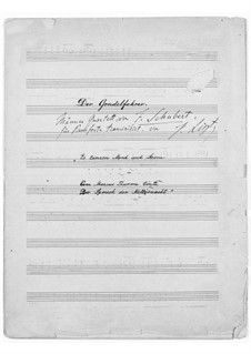 Transcription on 'The Gondolier' by Schubert, S.559: Transcription on 'The Gondolier' by Schubert by Franz Liszt