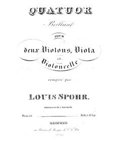 String Quartet No.19 'Brilliant' in A Major, Op.68: Parts by Louis Spohr
