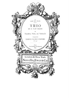 Piano Trio No.1 in E Flat Major, Op.35: Full score, parts by Charles Villiers Stanford