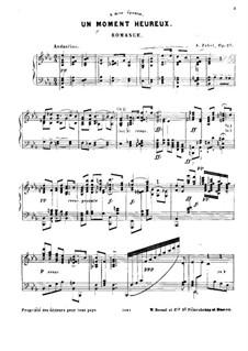 Un moment heureux. Romance, Op.27: Un moment heureux. Romance by Albert Zabel