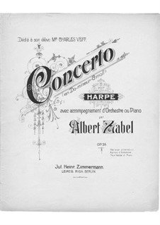 Harp Concerto in C Minor, Op.35: Version for harp and piano – piano part by Albert Zabel