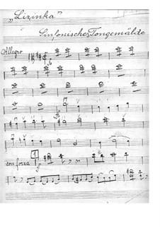 Lizinka: Viola part by Ivan Zajc