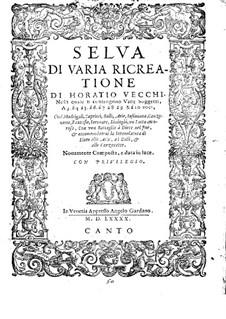 Selva di varia ricreatione: Canto part by Orazio Vecchi