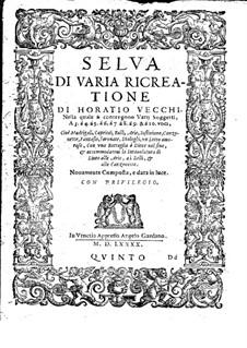 Selva di varia ricreatione: Quinto part by Orazio Vecchi