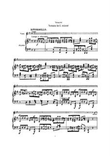 Sonata for Violin and Basso Continuo: Arrangement for violin (or viola) and piano by Francesco Maria Veracini