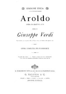 Aroldo: For piano by Giuseppe Verdi