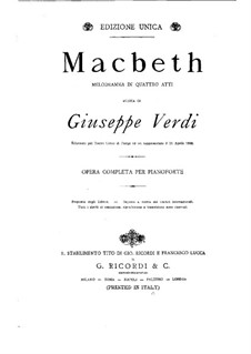 Macbeth: For piano by Giuseppe Verdi