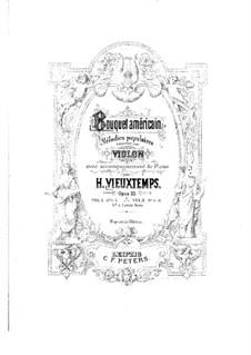 Bouquet Américain, Op.33: No.5 The Last Rose of Summer – Score by Henri Vieuxtemps