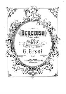 Berceuse (Lullaby): For voice and piano by Georges Bizet