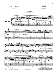 Grand Sonata 'Les quatre âges' (The Four Ages), Op.33: Movement I by Charles-Valentin Alkan
