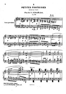 Trois petites fantaisies (Three Little Fantasias), Op.41: For piano by Charles-Valentin Alkan