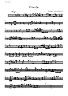 Concerto in D Major for Double Bass and Orchestra: Double bass solo part by Antonio Capuzzi