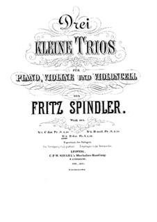 Piano Trio No.3 in D Major, Op.305: Piano Trio No.3 in D Major by Fritz Spindler
