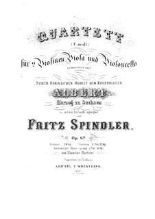 String Quartet in C Minor, Op.62: String Quartet in C Minor by Fritz Spindler