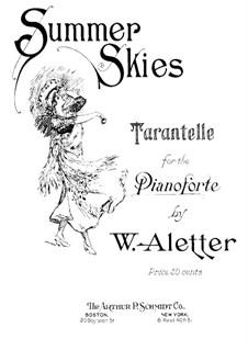 Tarantella in A Minor, Op.151 No.2: Tarantella in A Minor by Alphonse Tellier