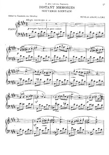 Four Pieces, Op.7: No.1 Distant Memories by Nikolay Amani