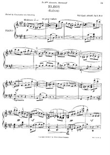 Four Pieces, Op.7: No.3 Elegy by Nikolay Amani