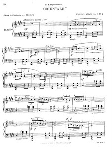 Four Pieces, Op.7: No.2 Orientale by Nikolay Amani