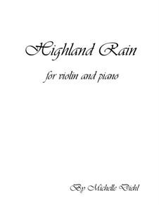 Highland Rain: Highland Rain by Michelle Diehl
