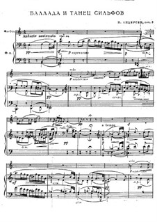 Ballad and Dance of the Sylphs, Op.5: Score by Joachim Andersen