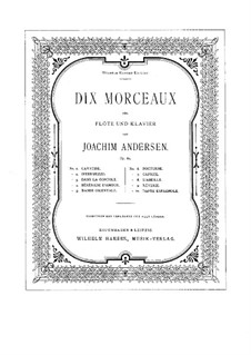 Ten Pieces for Flute and Piano, Op.62: No.2 Intermezzo by Joachim Andersen