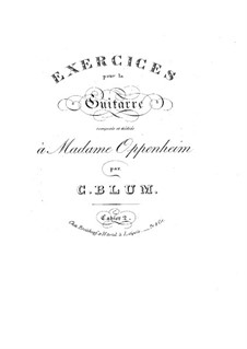 Exercises for Guitar: Book II by Carl Wilhelm August Blum