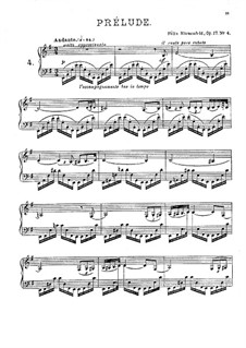 Twenty Four Preludes, Op.17: Preludes No.4-6 by Felix Blumenfeld
