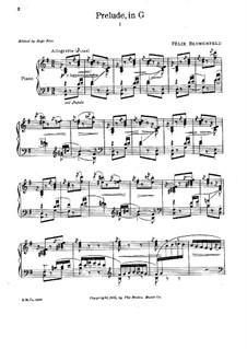 Twenty Four Preludes, Op.17: Preludes No.3, 4, 6 by Felix Blumenfeld