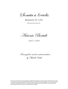 Sonata a 6 violis: Sonata a 6 violis by Antonio Bertali