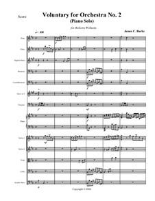 Voluntary for Orchestra No.2 (Piano Solo): Voluntary for Orchestra No.2 (Piano Solo) by James Burke