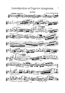 Introduction and Caprice , Op.58: Solo part by Joachim Andersen