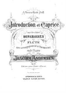 Introduction and Caprice , Op.58: Score by Joachim Andersen
