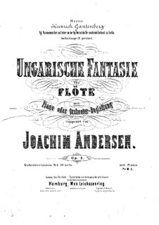 Hungarian Fantasia, Op.2: For flute and piano by Joachim Andersen