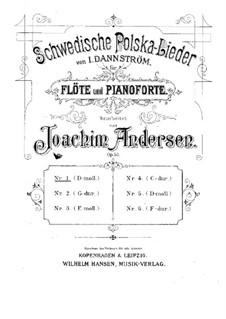 Six Swedish Polkas, Op.50: Score, solo part by Joachim Andersen